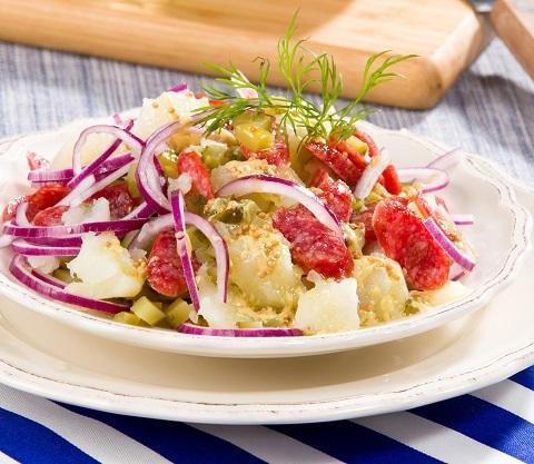 Німецький картопляний салат /