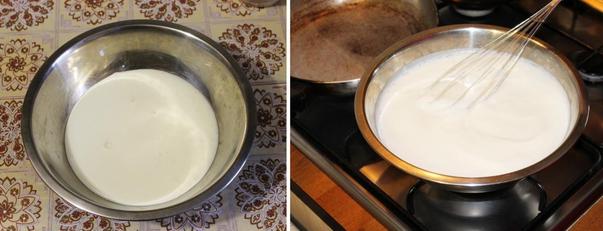 нагріваємо кефір з содою
